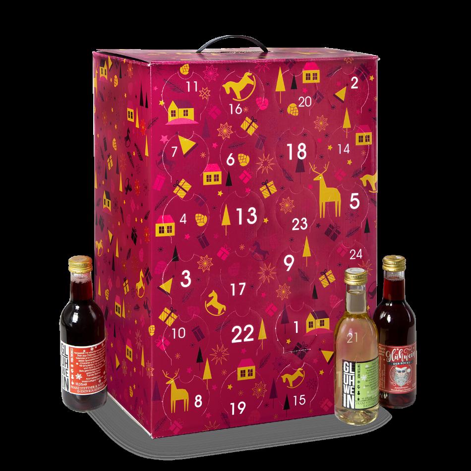 Glühwein Adventsalender 2020 mit Flaschen